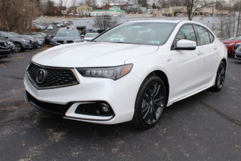 New 2020 Acura TLX w/A-Spec Pkg Red Leather